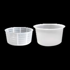 Форма для рикотты и мягких сыров 100 г низкая в контейнере